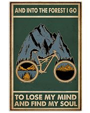 Retro Green Into The Forest Cycling 11x17 Poster front