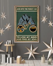 Retro Green Into The Forest Cycling 11x17 Poster lifestyle-holiday-poster-1