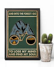 Retro Green Into The Forest Cycling 11x17 Poster lifestyle-poster-8