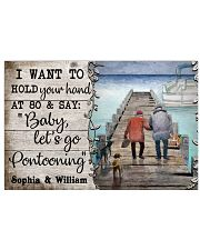 Personalized Pontoon I Want To Hold 24x16 Poster front