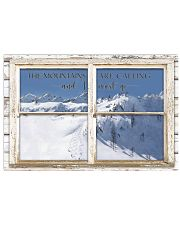 Window The Mountains Are Calling Skiing 24x16 Poster front