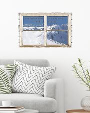 Window The Mountains Are Calling Skiing 24x16 Poster poster-landscape-24x16-lifestyle-01