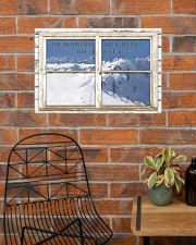 Window The Mountains Are Calling Skiing 24x16 Poster poster-landscape-24x16-lifestyle-24