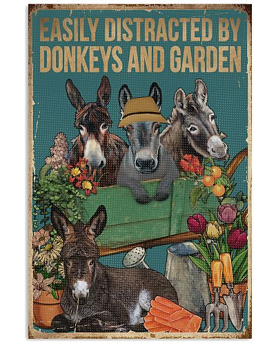 Retro Easily Distracted By Donkey And Garden