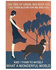 Vintage Girl Wonderful World Bernese Mountain Dog 11x17 Poster front