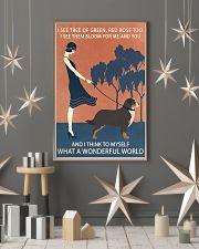 Vintage Girl Wonderful World Bernese Mountain Dog 11x17 Poster lifestyle-holiday-poster-1