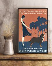 Vintage Girl Wonderful World Bernese Mountain Dog 11x17 Poster lifestyle-poster-3