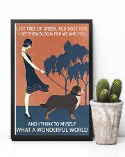 Vintage Girl Wonderful World Bernese Mountain Dog 11x17 Poster lifestyle-poster-8