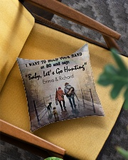 Personalized Hunting I Want To Hold Your Hand Square Pillowcase aos-pillow-square-front-lifestyle-07