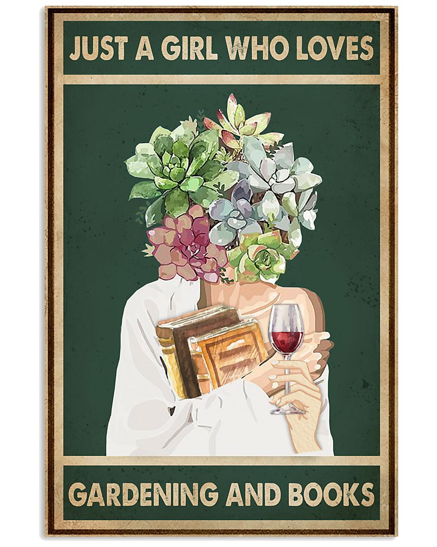 Easily distracted by Books Wine Garden 11x17 Poster