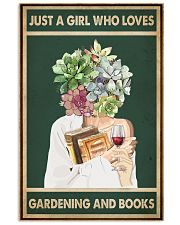 Easily distracted by Books Wine Garden 11x17 Poster front