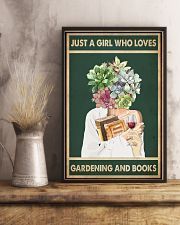 Easily distracted by Books Wine Garden 11x17 Poster lifestyle-poster-3