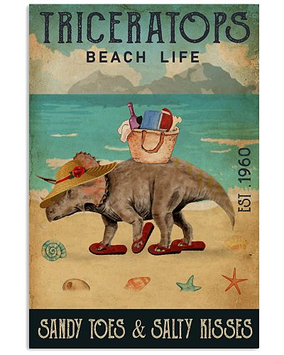 Beach Life Sandy Toes Triceratops