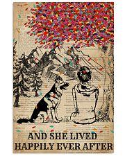 Dictionary Girl Happily Ever German Shepherd 11x17 Poster thumbnail