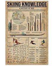 Skiing Knowledge 16x24 Poster front