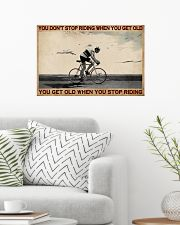 You Don't Stop Riding Cycling 24x16 Poster poster-landscape-24x16-lifestyle-01