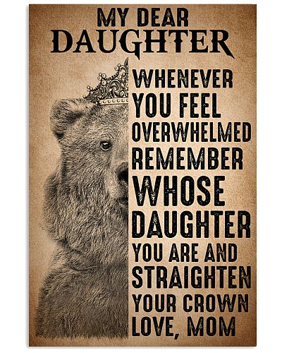 To Daughter Straighten Your Crown Bear