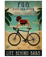 Cycling Club Pug 11x17 Poster front