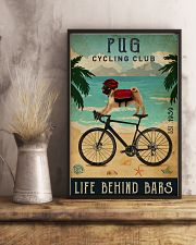 Cycling Club Pug 11x17 Poster lifestyle-poster-3