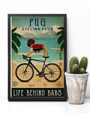 Cycling Club Pug 11x17 Poster lifestyle-poster-8