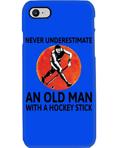 Never Underestimate An Old Man Field Hockey