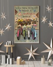 Green Pallet Bicycle I Think To Myself 11x17 Poster lifestyle-holiday-poster-1
