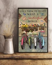 Green Pallet Bicycle I Think To Myself 11x17 Poster lifestyle-poster-3
