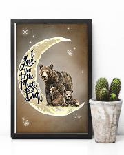 Love You To The Moon And Back Bear 11x17 Poster lifestyle-poster-8