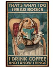 That's What I Do I Read Books Rabbit Coffee 16x24 Poster front