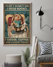 That's What I Do I Read Books Rabbit Coffee 16x24 Poster lifestyle-poster-1