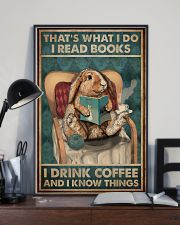 That's What I Do I Read Books Rabbit Coffee 16x24 Poster lifestyle-poster-2