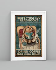 That's What I Do I Read Books Rabbit Coffee 16x24 Poster lifestyle-poster-5