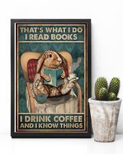That's What I Do I Read Books Rabbit Coffee 16x24 Poster lifestyle-poster-8