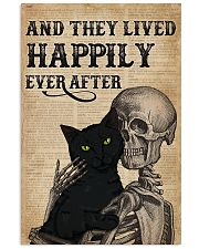 They Lived Happily Black Cat Skeleton 11x17 Poster front