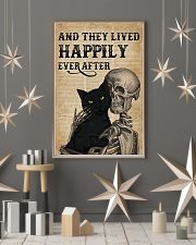They Lived Happily Black Cat Skeleton 11x17 Poster lifestyle-holiday-poster-1