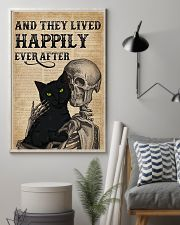 They Lived Happily Black Cat Skeleton 11x17 Poster lifestyle-poster-1
