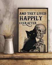 They Lived Happily Black Cat Skeleton 11x17 Poster lifestyle-poster-3