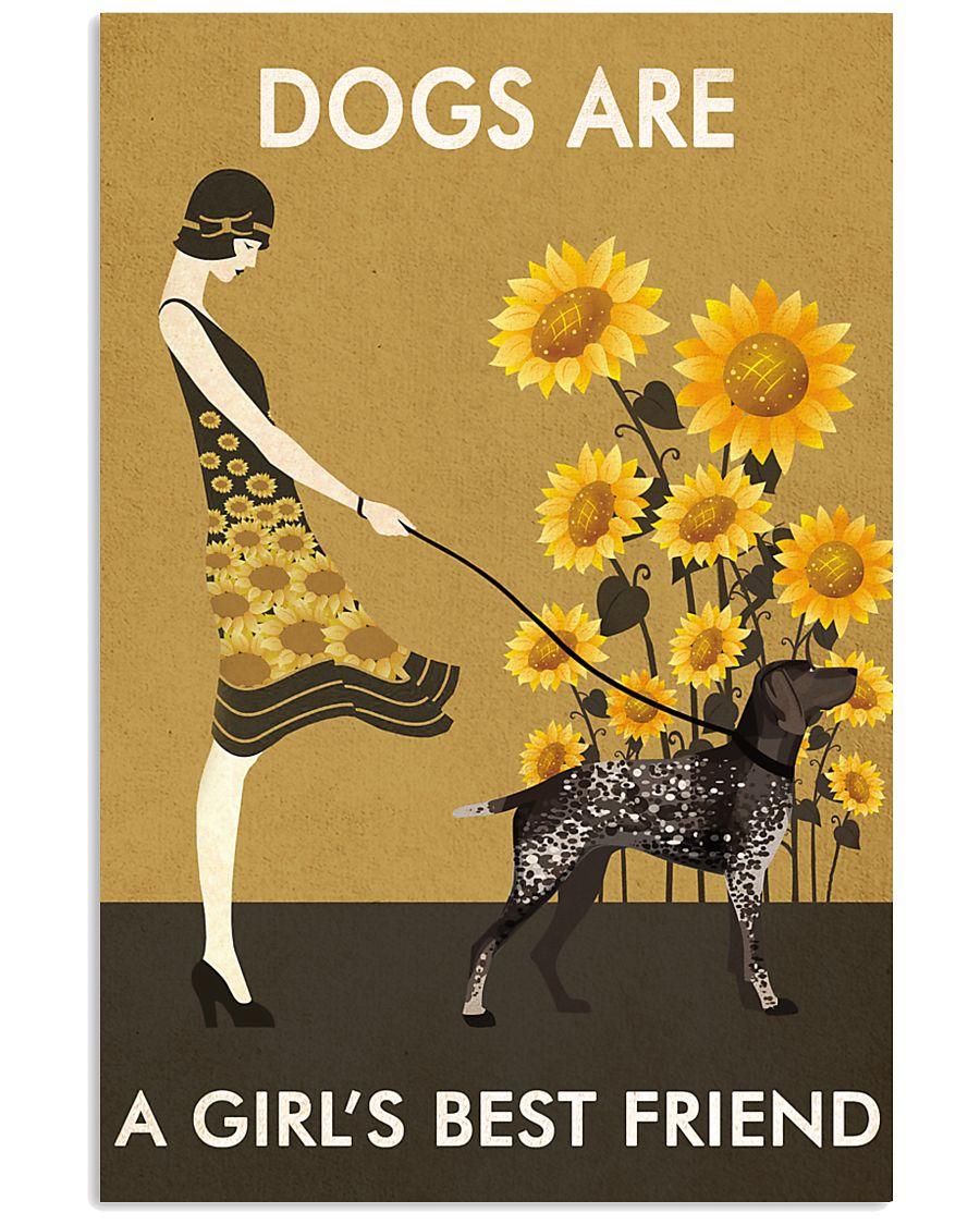 Sunflower Vintage Love German Shorthaired Pointer 11x17 Poster