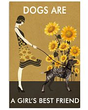 Sunflower Vintage Love German Shorthaired Pointer 11x17 Poster front