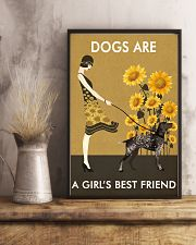 Sunflower Vintage Love German Shorthaired Pointer 11x17 Poster lifestyle-poster-3