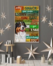 Australian Shepherd Every Snack You Make Dog 11x17 Poster lifestyle-holiday-poster-1
