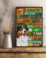 Australian Shepherd Every Snack You Make Dog 11x17 Poster lifestyle-poster-3