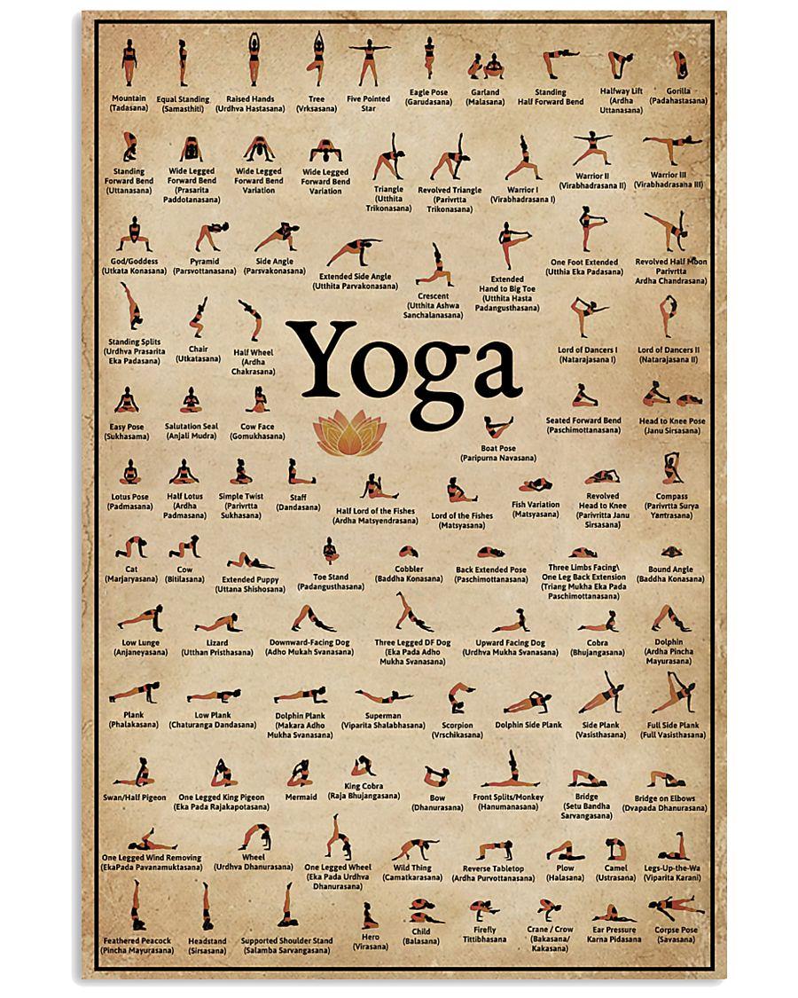 Yoga Poses 16x24 Poster