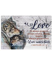 Wolf Couple Love Never Fails 24x16 Poster front