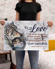 Wolf Couple Love Never Fails 24x16 Poster poster-landscape-24x16-lifestyle-20