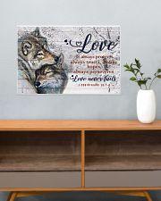 Wolf Couple Love Never Fails 24x16 Poster poster-landscape-24x16-lifestyle-25