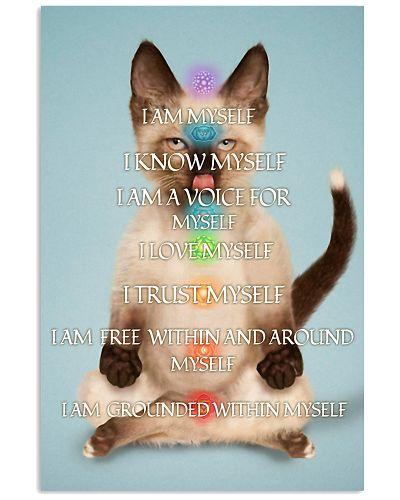 I Am Myself Yoga Siamese Cat