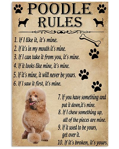 Funny Rules For Your Dog Poodle