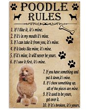 Funny Rules For Your Dog Poodle 11x17 Poster front