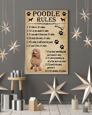 Funny Rules For Your Dog Poodle 11x17 Poster lifestyle-holiday-poster-1
